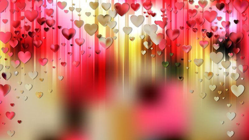 Pink and Yellow Love Background Illustration