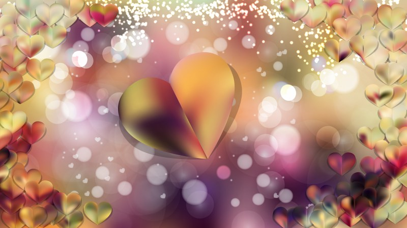 Pink and Yellow Valentine Background