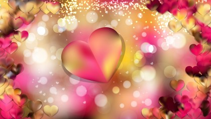 Pink and Yellow Heart Wallpaper Background Vector Art