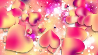 Pink and Yellow Valentines Background Image