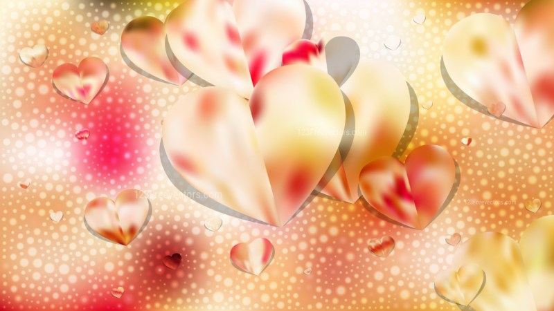 Pink and Yellow Valentine Background Vector Graphic