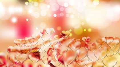Pink and Yellow Valentines Day Background Vector Graphic
