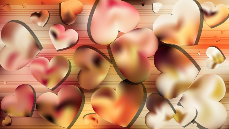 Pink and Yellow Valentines Background Vector Image