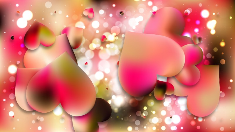 Pink and Yellow Love Background Vector Illustration