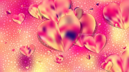 Pink and Yellow Love Background