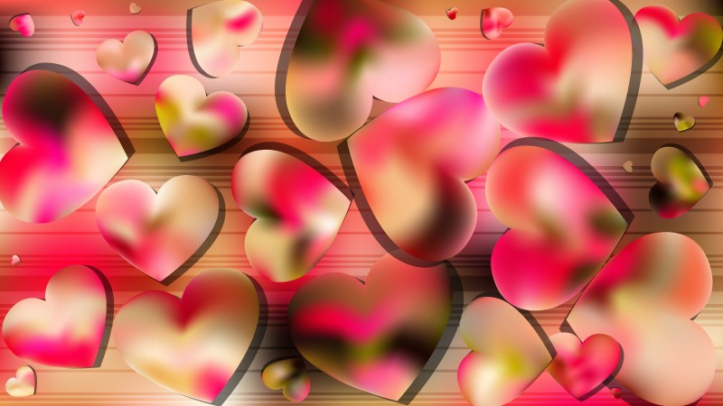 Pink and Yellow Valentines Background Vector Illustration