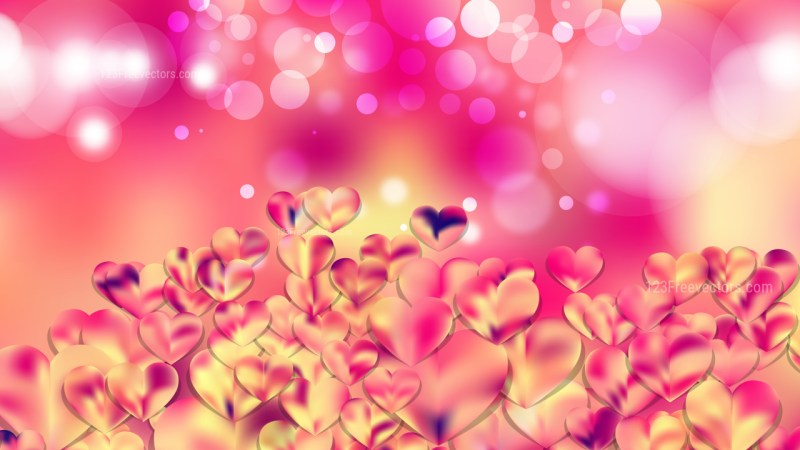 Pink and Yellow Valentines Background