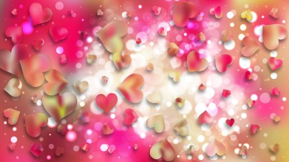 Pink and Yellow Heart Background Illustrator