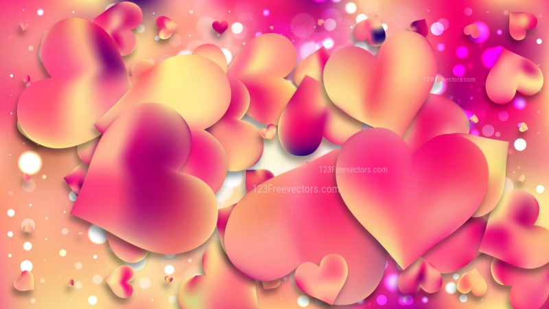 Pink and Yellow Valentines Background Vector Art
