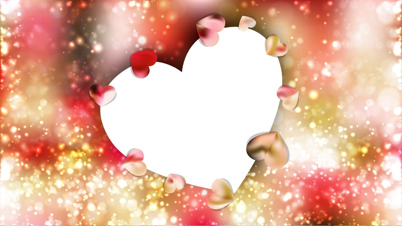 Pink and Yellow Valentines Day Heart Background
