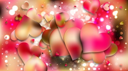 Pink and Yellow Romance Background