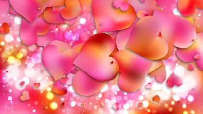 Pink and Yellow Valentine Background Vector