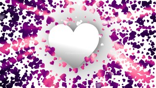Purple Valentines Background