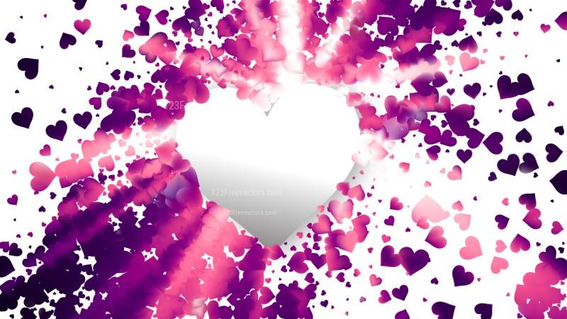 Purple Valentine Background