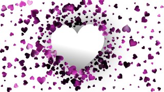 Purple Valentines Background Vector Art