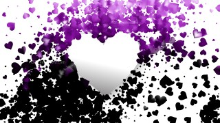 Purple and Black Heart Background
