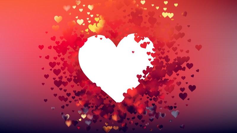 Red Heart Wallpaper Background Vector Art