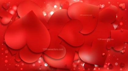 Red Valentines Day Background Graphic