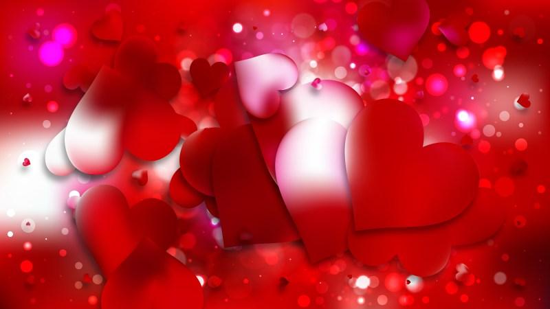 Red Valentine Background Design