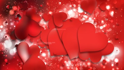 Red Love Background Image