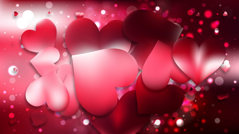 Red and Black Love Background