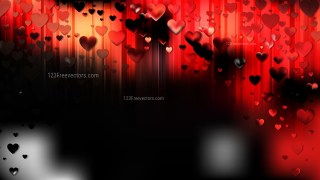 Cool Red Valentine Background Illustrator