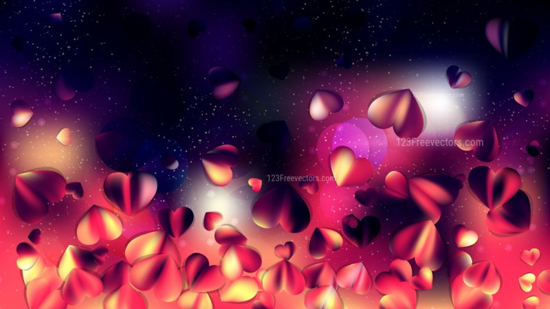 Red and Black Heart Wallpaper Background Vector Image