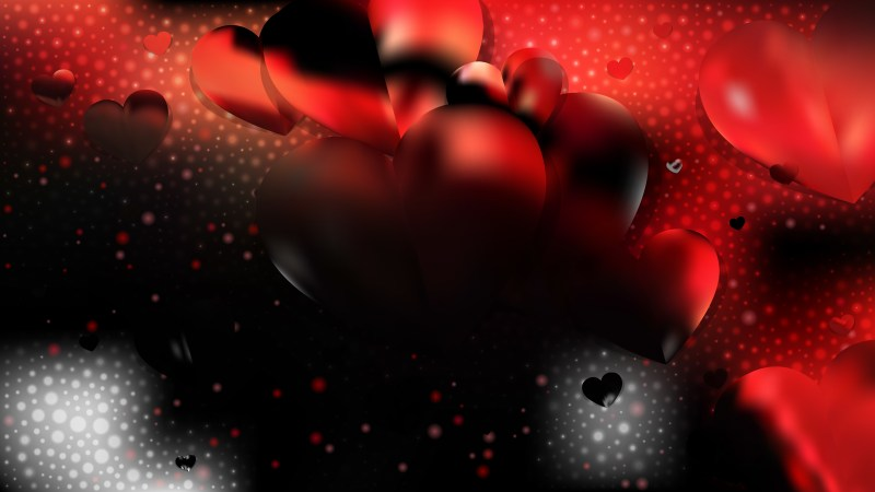 Red and Black Love Background Vector Art