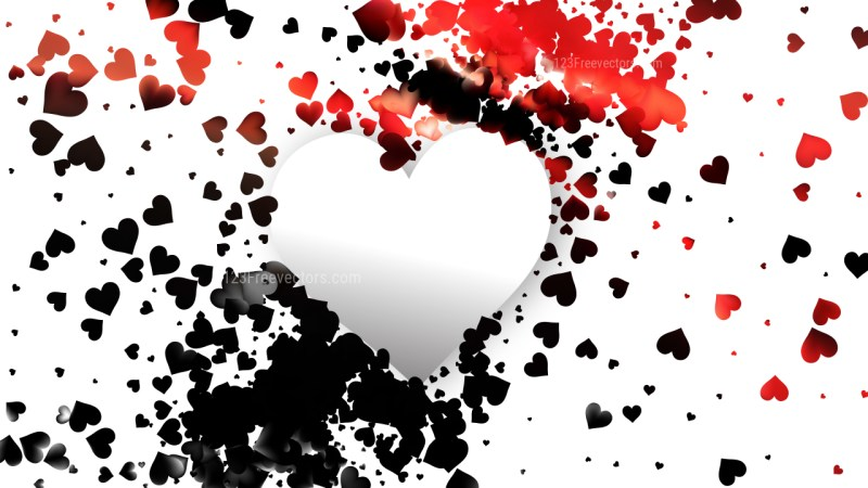 Red and Black February Background