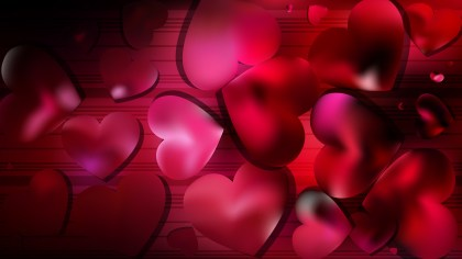 Red and Black Heart Background Design