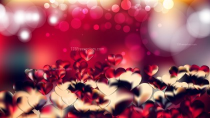 Red and Black Valentines Day Background Vector Graphic