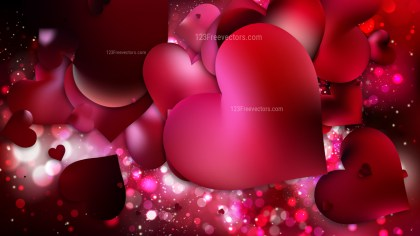 Red and Black Heart Background
