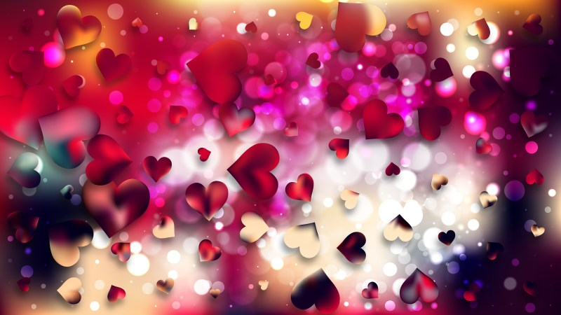 Red and Black Valentines Day Background