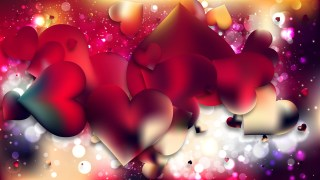 Red and Black Valentine Background