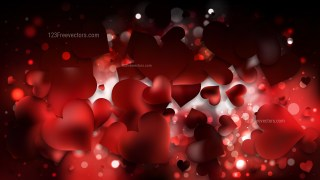 Red and Black Heart Background Illustrator