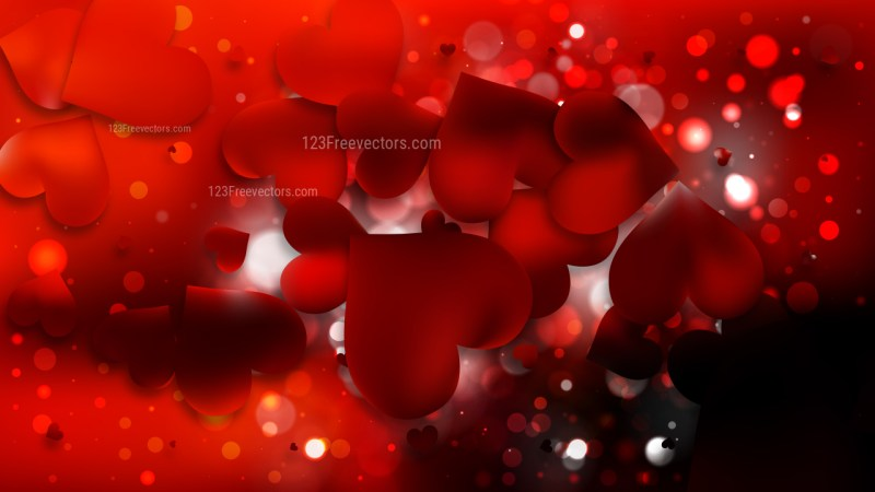Cool Red Heart Wallpaper Background Vector Illustration