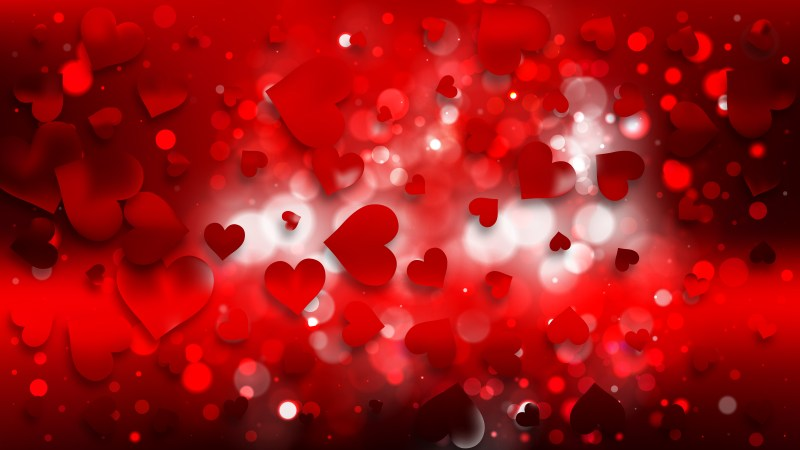 Red and Black Valentines Day Background Vector
