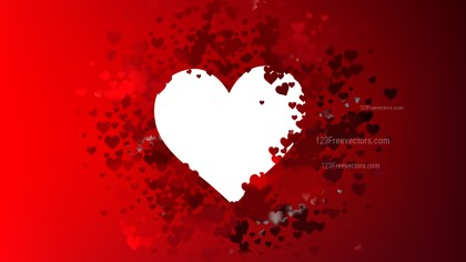 Red and Black Valentines Background Vector Art