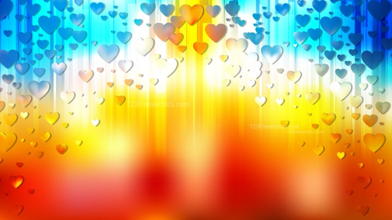 Red and Blue Heart Wallpaper Background Vector Art