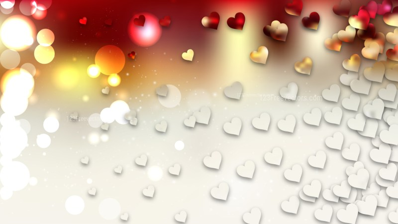 Red and White Valentines Background Image