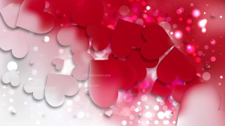 Red and White Valentine Background Vector Graphic