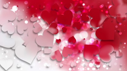Red and White Valentines Day Background