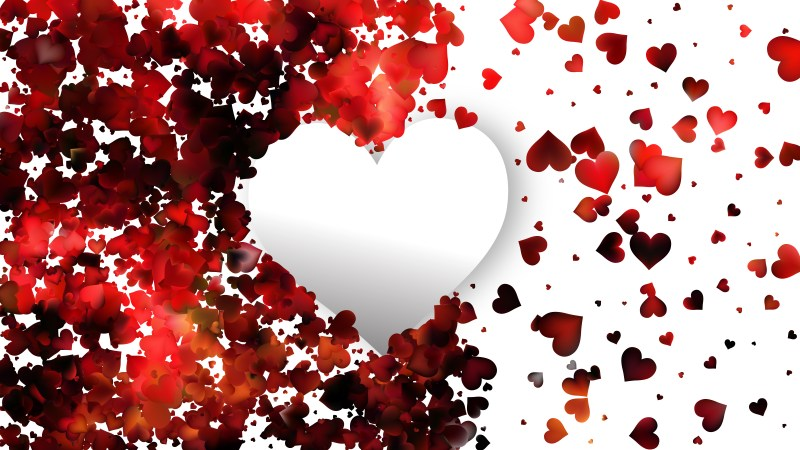 Red and White Valentines Background