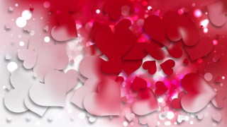Red and White Love Background