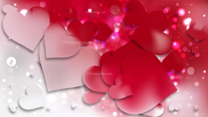 Red and White Heart Wallpaper Background Image