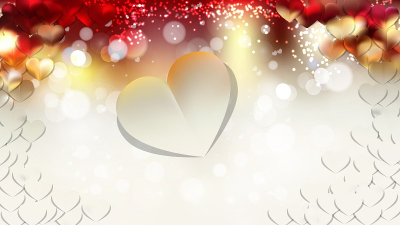 Red and White Valentines Day Background Vector Graphic