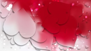 Red and White Valentines Background Vector Image