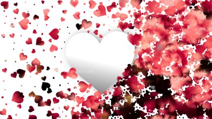 Red and White February Background