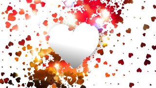 Red and White Heart Background