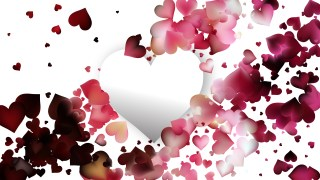 Red and White Heart Wallpaper Background